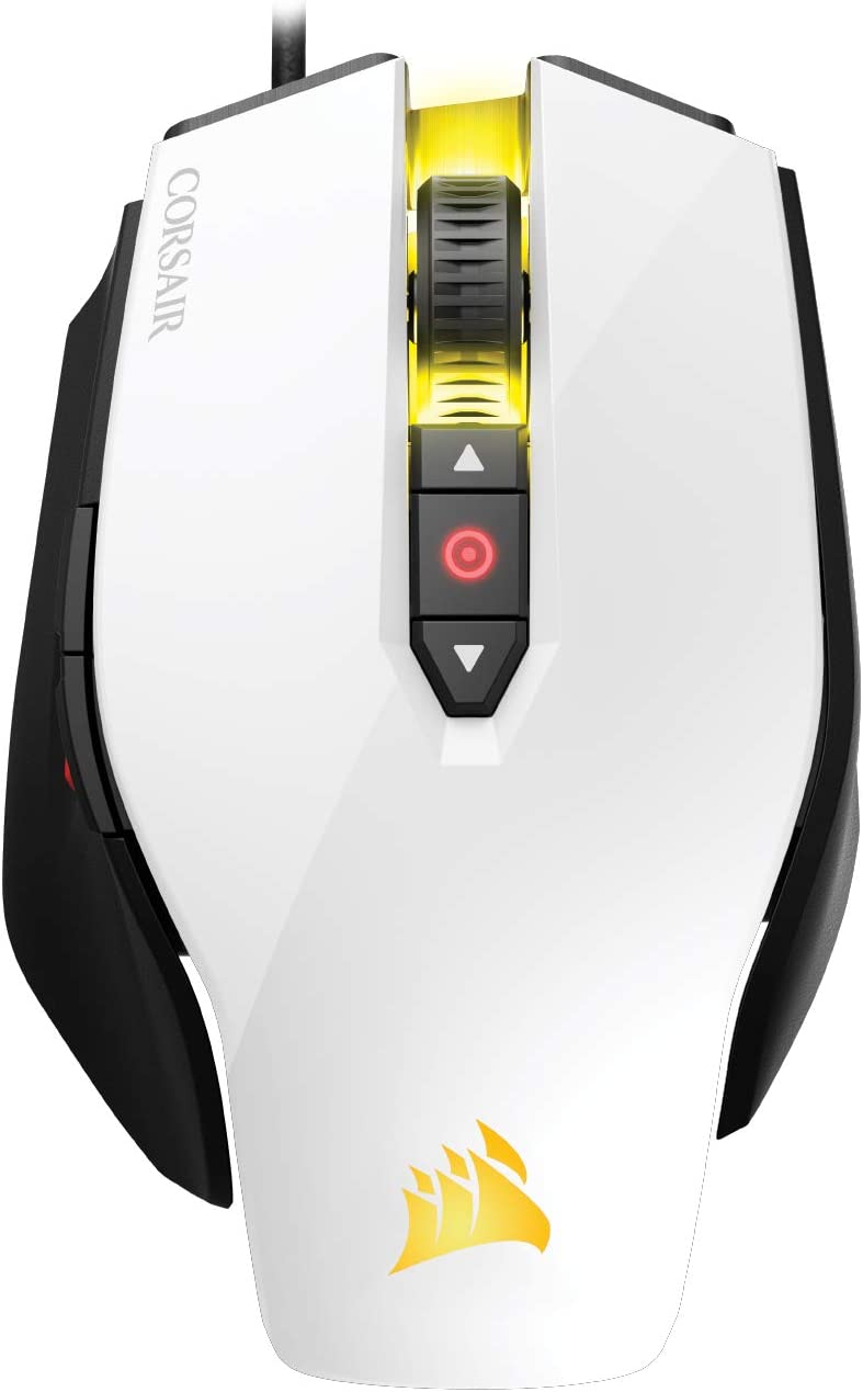 CORSAIR M65 Pro RGB - FPS Gaming Mouse - 12,000 DPI Optical Sensor - Adjustable DPI Sniper Button - Tunable Weights - White (CH-9300111-NA)