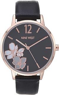 Nine West Women's Flower Dial Strap Watch, NW/2552
