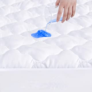 """Best SPRINGSPIRIT Mattress Protector Waterproof Twin Size, Breathable & Noiseless Twin Mattress Pad Cover Quilted Fitted with Deep Pocket up to 14"""" Depth (39""""x 75"""") Review"""
