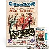 Rompecabezas de la película Serie de carteles de películas como casarse con un millonario 38x26cm papel mini 1000 piezas Rompecabezas art deco de póster de película