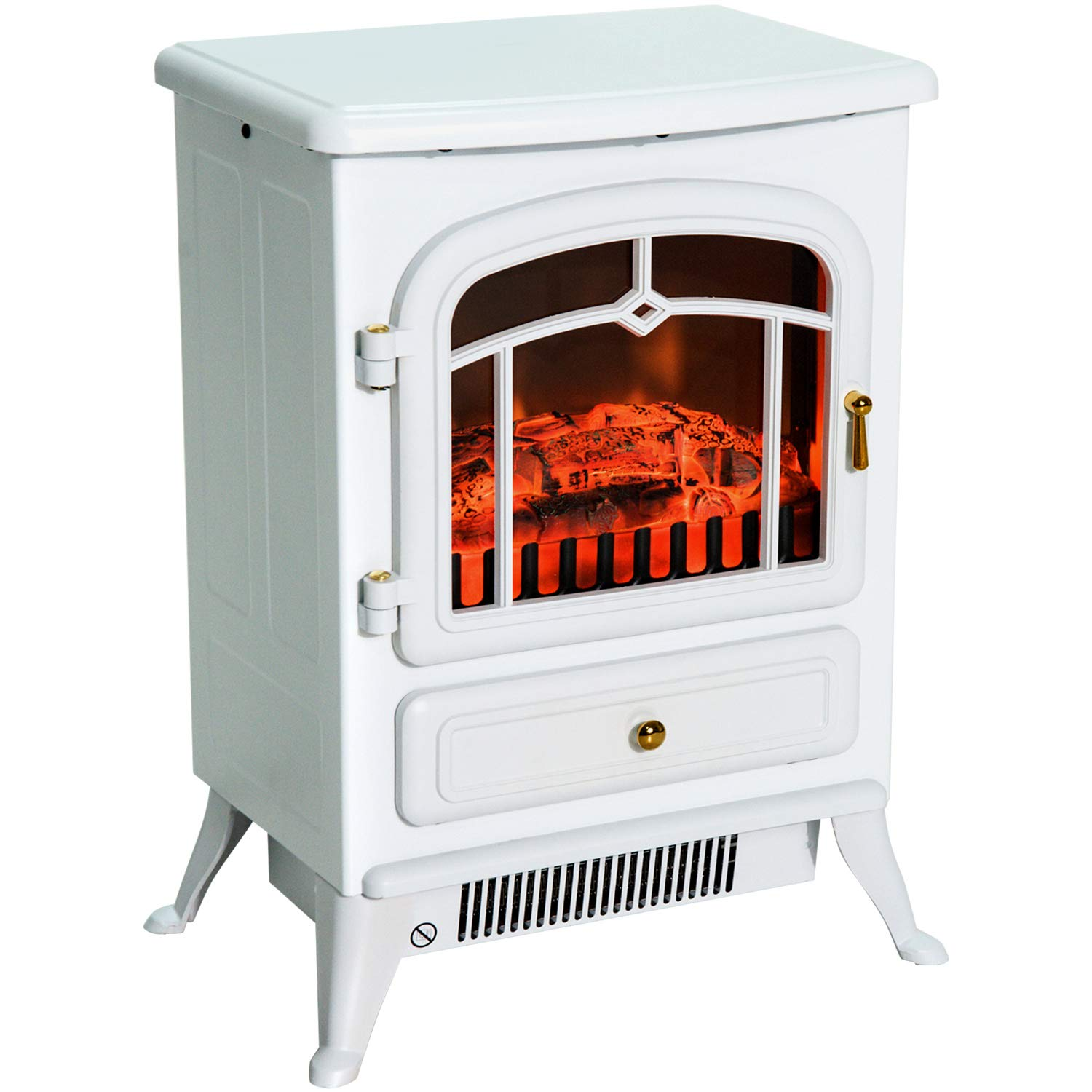 Compact Freestanding Electric Fireplace Realistic