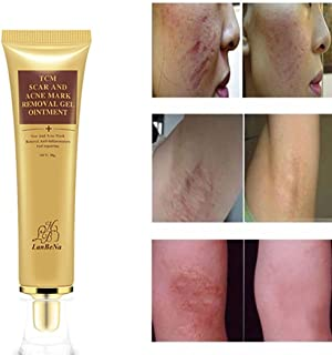 Removing Scar Ointment-lotus.flower Herbal Acne Scar Removal Cream Skin Repair Face Cream Acne Spot Treatment 30ml+5Pcs Cotton Swab (30g)