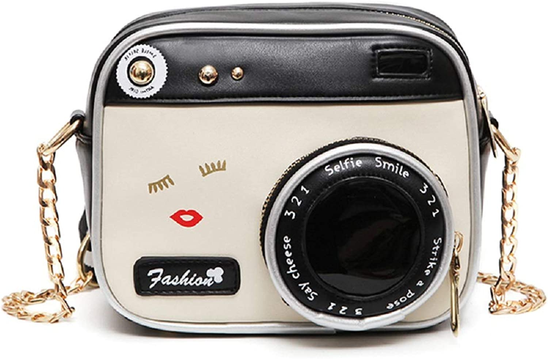 Women Girls Cute Camera Shape Crossbody Bag Casual Leather Shoulder Handbag Purse