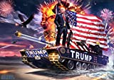 Donald Trump Poster 12' x 18' Multicolour