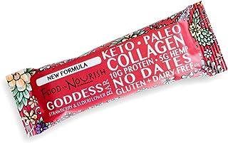 Food to Nourish Elderflower and Strawberry Collagen Bar, 40 g
