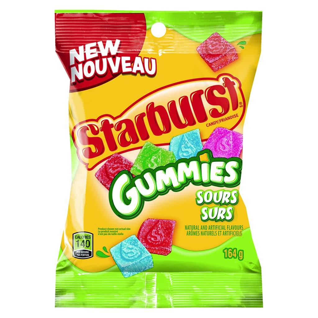 Starburst Gummies Sours Cheap sale Candy 164g Max 51% OFF Imported from Canada 5.8oz