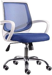 Silla de oficina de Malla, Sillas de computadora for el hogar Trabajar con brazos y silla de escritorio giratorios con reposabrazos for ejecutivo, conferencia, oficina en casa ( Color : Blue )