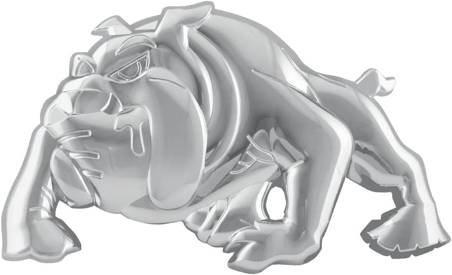 Grand General 94260 Chrome Plastic Bull Dog Mud Flap Cut-Out Accent