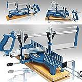 Scie à onglet manuelle bleue 550 mm Scie à onglet à main avec Socle en bois