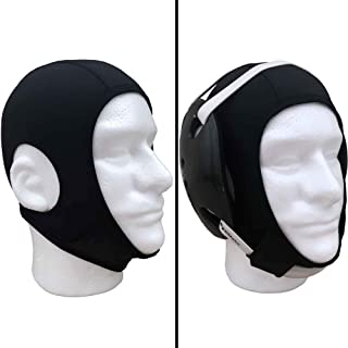 Savage Wrestling Hair Cover Cap | Universal Fit for Any Headgear | Best Design with Chin & Back Straps & Open Ears Holes | Hair Net for Grappling Sports, Wrestling, Judo, Jiu Jitsu | Girls & Boys
