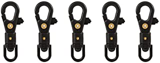 VGEBY 5Pcs Swivel Keychain Carabiners 360 Degree Rotatable Lobster Clasps for Home Parachute Cord Camping