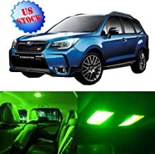 Interior LED Lights Green Replacement for 1998-2009 Subaru Forester Accessories Package Kit 11Pcs