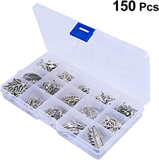 SUPVOX 150pcs Jewelry Charms DIY Hollow Leaf Tree Leaves Branch Pendants for Crafting Bracelet Necklace Jewelry Findings
