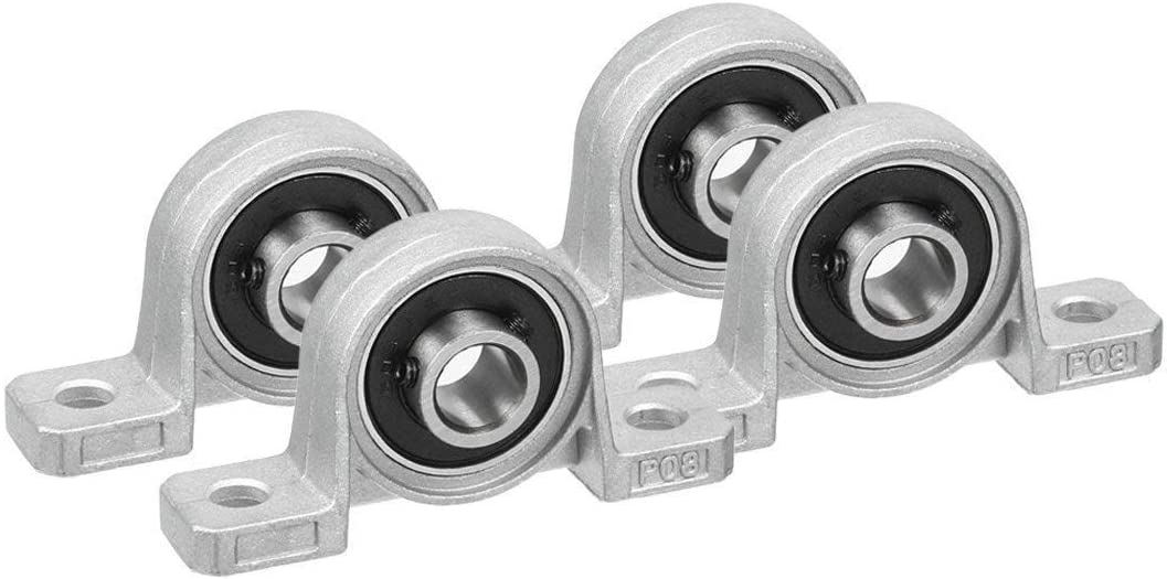 At the price of surprise Sydien 4Pcs 8mm Inner Bore Ball Block Micr Flange Pillow Mounted 1 year warranty