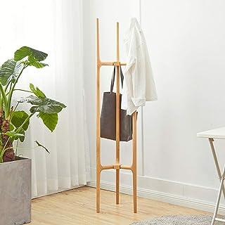Jazi Regal Kleiderständer Massivholz Einfacher Eingangsbereich Stehend für Hut Jacke Kleiderbügel Rack im Wohnzimmer Schlafzimmer Organizer