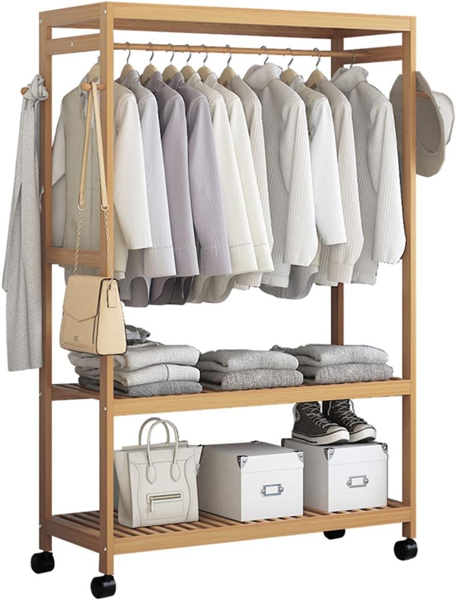 Wooden Garment Clothes Rack Rail Shelf Hea Hanging Hat free Coat half
