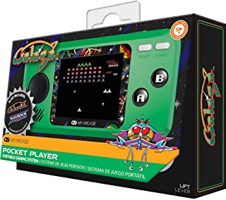 My Arcade Galaga Pocket Player - Collectible Handheld Game Console with 3 Games