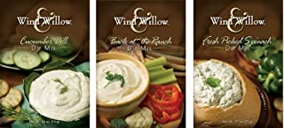 """Wind & Willow Dip Mix Variety Pack - """"Back At the Ranch,"""" """"Cucumber Dill,"""" & """"Fresh Picked Spinach"""""""