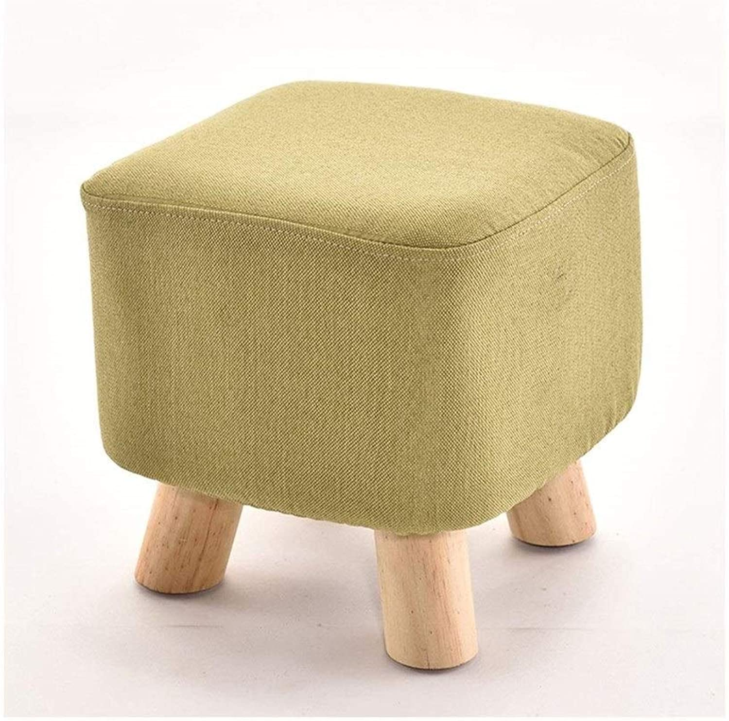 Fashion Creative Solid Wood Adult shoes Bench Sofa Stool Home FENPING (color   Yellow)