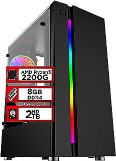 PC Gamer PlayNow AMD Ryzen 3 2200G 8GB DDR4 2666MHZ (Placa de vídeo Radeon RX 550 4GB) HD 2TB 500W Skill