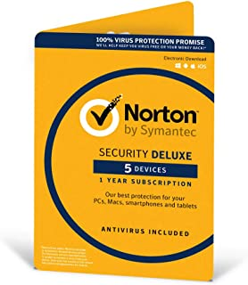 Symantec Norton Security Deluxe 3.0 - 1 User, 5 Devices, 12 Months License Card (Pc/Mac)