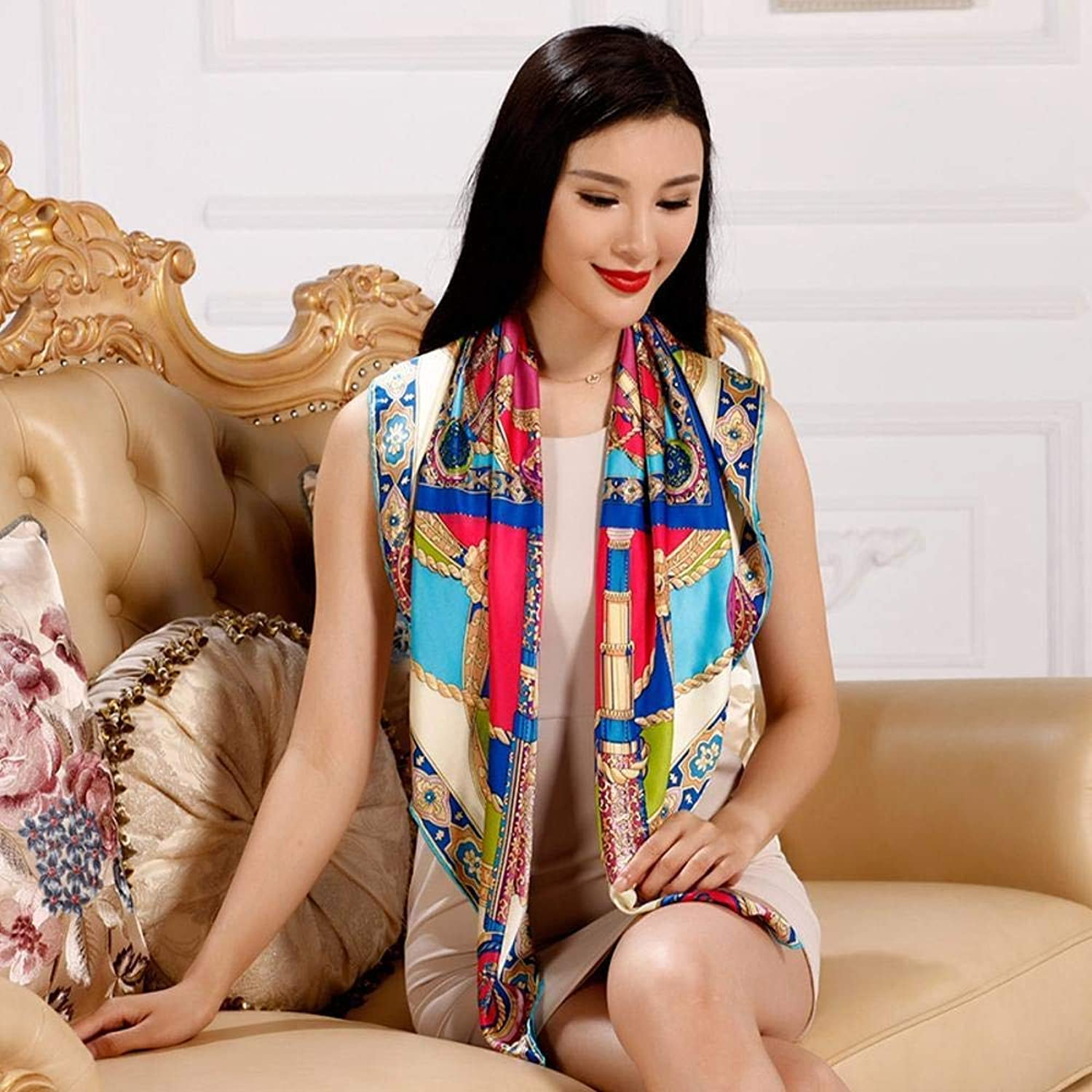 Dequanrong Ladies Silk shawl silk scarf slim breathable Perfectly expresses unique temperament Fashion Scarf for Women