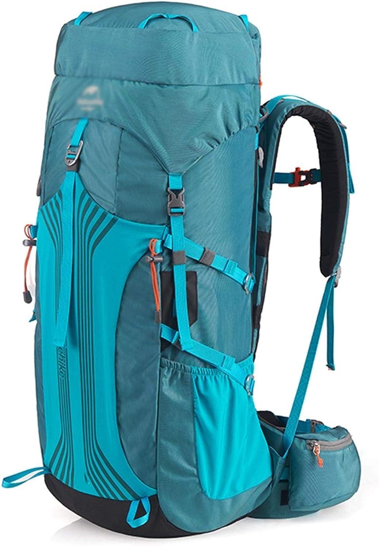 CHENG BAG Bergsteigen-Paket, Outdoor-Reisetasche Starke Last Hohe Kapazitt Leichtgewicht Wasserbeutel Camping Unisex (Farbe   Azure ash, gre   65+5L)