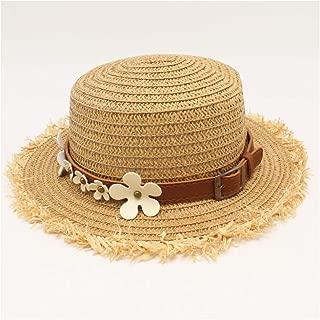 HaiNing Zheng 2019 Women Straw Baseball Cap Flower Leather Belt Tassel Beach Sun Hat Black Breathable Fashion Travel Hat Leisure