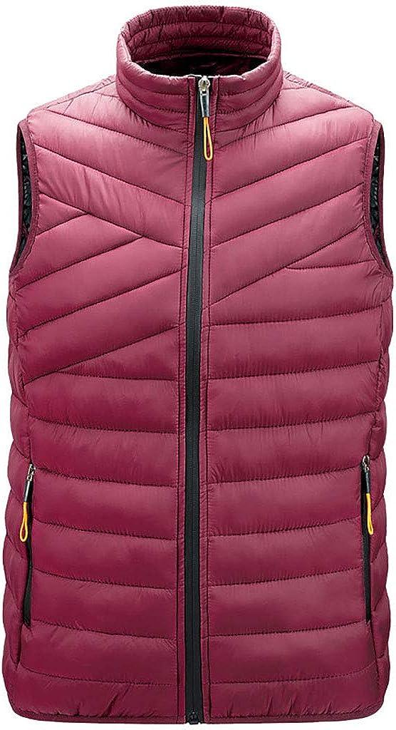 FDSH Men's Packable Lightweight Down Vest,Winter Down Waistcoat Padded Outdoor Gilets Body Warmers