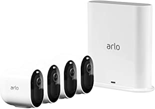 Arlo Pro 3-4 Camera System| 2K Video with HDR Security Camera, Wire-Free, Colour Night Vision, 160° View (VMS4440P-100AUS)