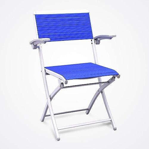 QRFDIAN Chaise Pliante, Chaise de Bureau, Chaise de Formation, Chaise de réunion, Chaise de Dossier, Table et Chaise Portables d'extérieur (Couleur   Bleu)
