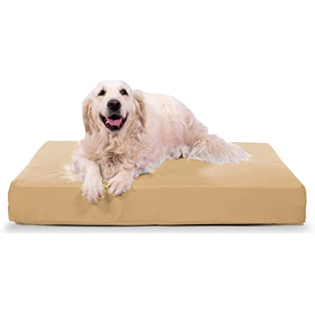 Amazon Com K9 Ballistics Tough Orthopedic Dog Bed Large Nearly Indestructible Chew Proof Washable Ortho Pillow For Chewing Puppy For Large Dogs 40 X34 Tan Pet Beds Pet Supplies