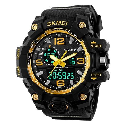 Carrie Hughes Mens Analog Digital Multifunctional Sport Dual Time Wrist Watch SK1155Y