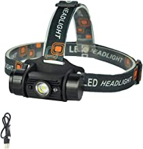 Koplamp LED inductie schijnwerper bewegingssensor schijnwerper oplaadbare hoofd fakkel camping jacht zaklamp A