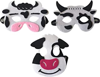 3 Piece Felt masks animal Halloween masks Dress-Up party accessory Parent-child game