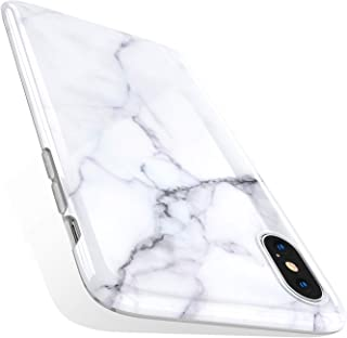 TORRAS Marble iPhone Xs Case/iPhone X Case, Ultra Thin Slim Case Soft Marble White TPU Phone Case for iPhone X/iPhone Xs
