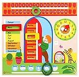 Lernspielzeug Kalender mit Lernuhr Wochentage Monate Jahreszeiten usw -