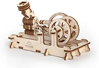 S.T.E.A.M. Line Toys UGears Mechanical Models 3-D Wooden Puzzle - Mechanical Pneumatic Engine