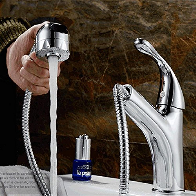 SHLONG Einlochmontage Waschbecken Wasserhahn Pull-Typ Wasserhahn Bad Einlochmontage Waschbecken Wasserhahn