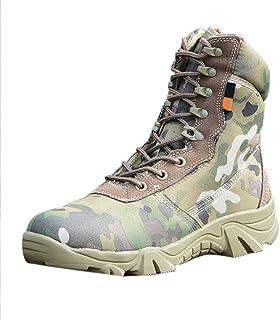 fa293bb475e26 uirend Chaussures Travail Militaires Homme - High Top Militaire pour Homme  Tactique Bottes de Randonnée à