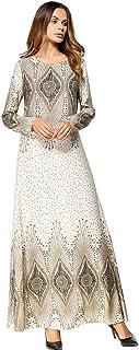 e61823ef028 Uiophjkl Robe Jupe Longue imprimée Couture Couture Robe à Manches Longues  Robe Orientale Robe de soirée