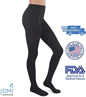 Jomi Compression Pantyhose Women Collection, 20-30mmHg Surgical Weight Closed Toe, Petite Short 272 (X-Large, Black)