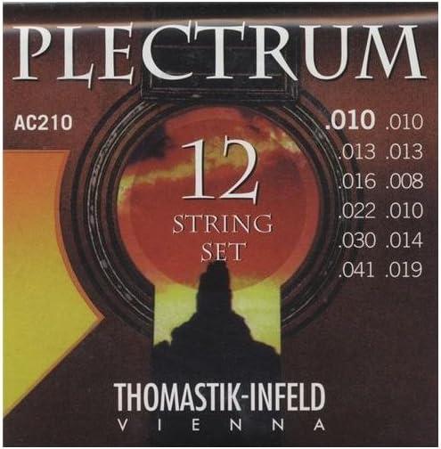 Thomastik Cuerdas para Guitarra Acústica Plectrum Acoustic Series juego AC210 Extra Light 12-string sin niquel