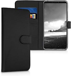 kwmobile 対応: Xiaomi Mi Max 3 ケース - スマホカバー 手帳型 PUレザー - 携帯 保護ケース カードポケット スタンド 付き
