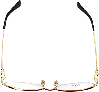Vogue Women's Optical Oval Half Rim Golden Frames Eyewear ( 0VO 3955 BI 280 51)