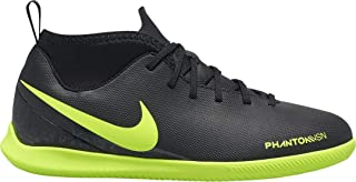 Nike Kids' Phantom Vision Club Dynamic Fit Indoor Soccer Shoes (5 Big Kid M) Black/Green