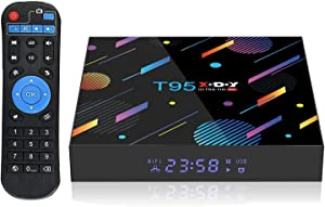 Android 10.0 4K TV Box,Xgody T95 4GB RAM 128GB ROM Smart TV Box Allwinner H616 Quad-core 64bit,Support Dual WiFi 2.4GHz/5GHz/ 6K UHD/ 3D/ H.265 Streaming Media Players Decode 6K