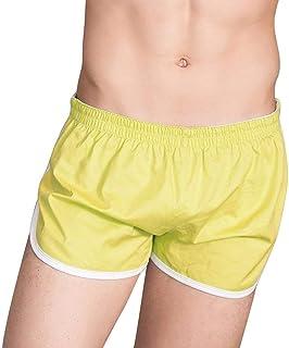 Saoye Fashion Men's Underpants Slip Elastic Comfortable Breathable Soft Boxer Shorts Panty Clothing Swimwear Swimwear Men