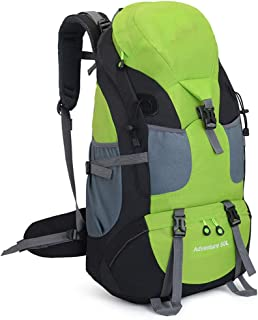 Rjj 50L Backpack Large-Capacity Mountaineering Bag Waterproof Backpack Travel Outdoor Camping Bag Exquisite (Color : Green)