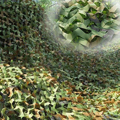 Red de Camuflaje para Sombra Malla de Militar Camuflaje 2 × 3 m, 4 × 5 m, 6 × 8 m, 7 × 3 m, 8 × 9 m, 10 × 10 m Mallas de Protección Tela Oxford